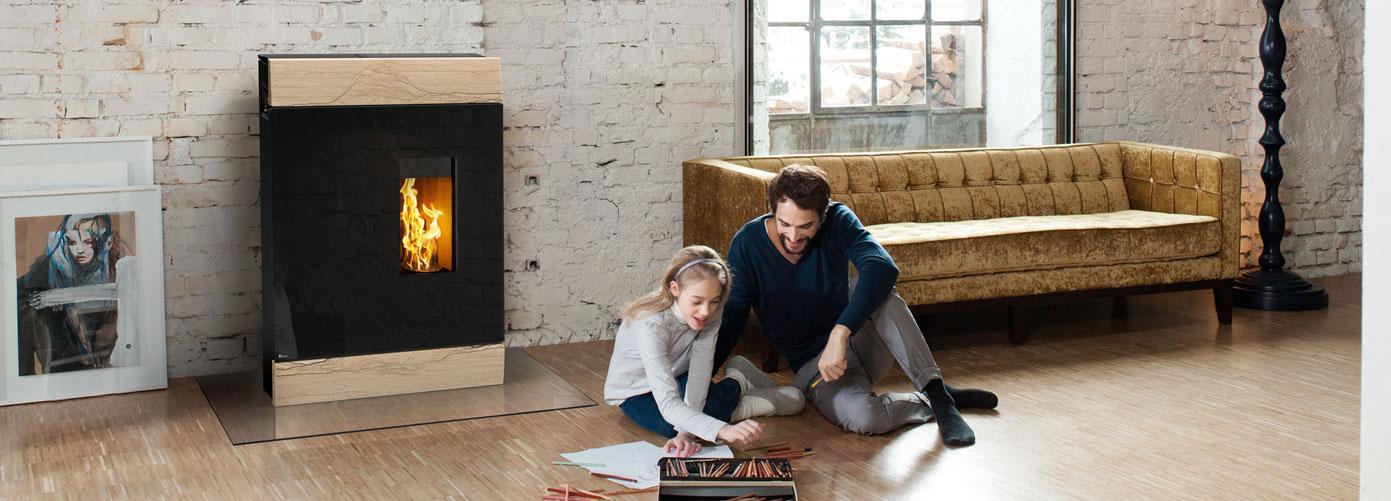 les poeles a granules de bois casa bio. Black Bedroom Furniture Sets. Home Design Ideas
