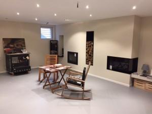 Show room cuisinière à bois, insert et foyer fermé porte escamotable